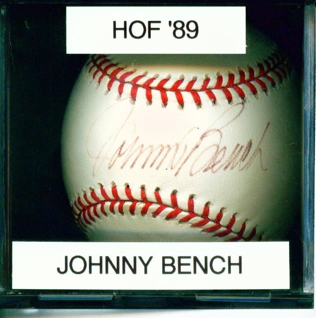 Mitch 39 S Autographs Johnny Bench Autographs
